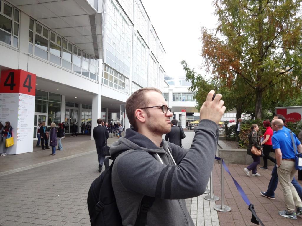 Azubi Daniel ist von der Frankfurter Buchmesse 2014 fasziniert