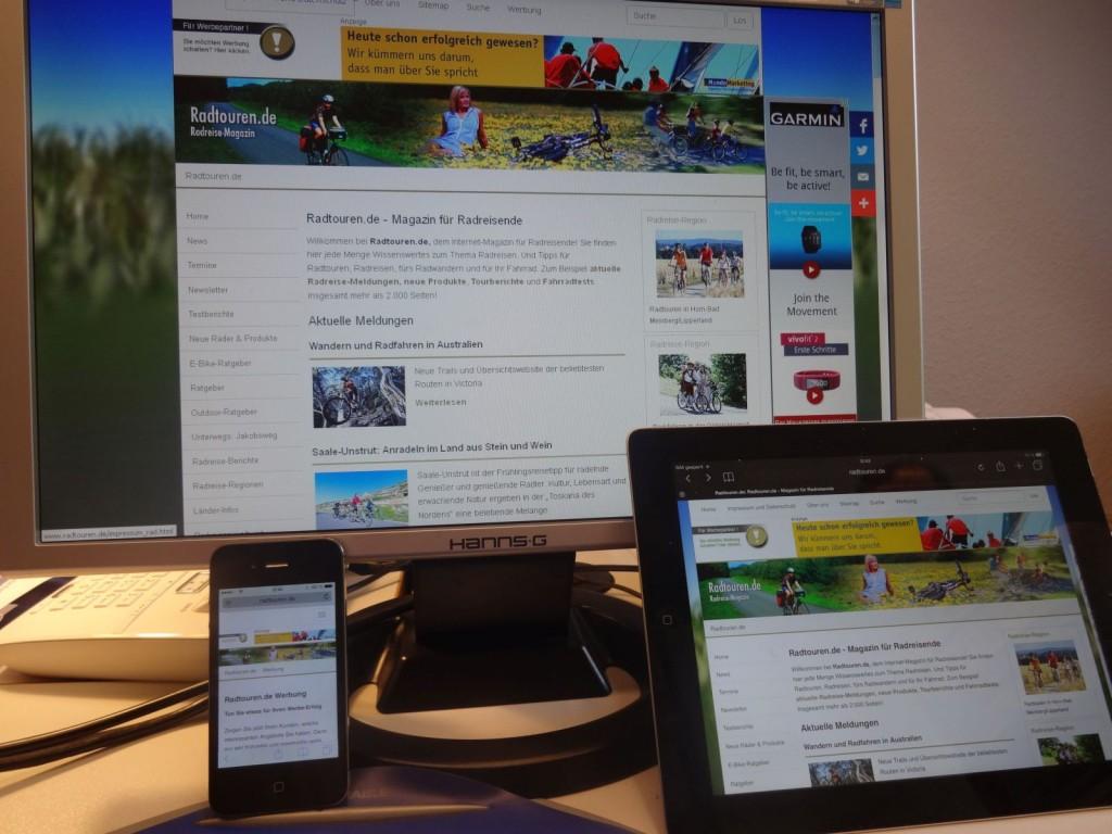 Responives Design für PC, Tablet und Smartphone